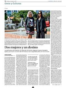 Cristina Zumárraga y María Luisa Gutiérrez, entrevistaen Diario de