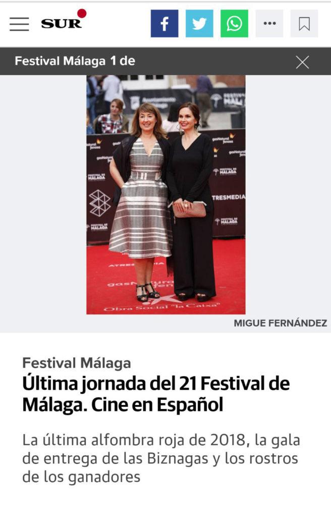 Recogida de premios en el Festival de Málaga para 'No dormirás'